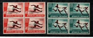 San Marino Scott C93-4 Mint NH blocks (Catalog Value $19.00)