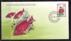 Montserrat FDC card Sc 453 Cousteau Society Bigeye Fish L74