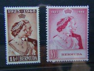 Bermuda 1948 Royal Silver Wedding set MNH