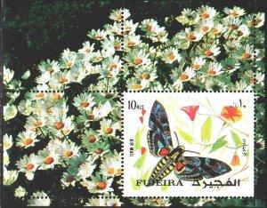 Fujairah. 1972. bl134a. Butterflies. MNH.
