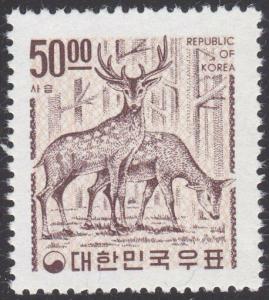KOREA 1964 50w Sika deer MNH................................................2597