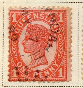Queensland 1897-1900 Early Issue Fine Used 1d. 326845