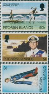 Pitcairn Islands 1977 SG182-184 Logs Bay QEII MNH