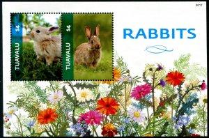 2021 Tuvalu Rabbits SS (Scott NA) MNH