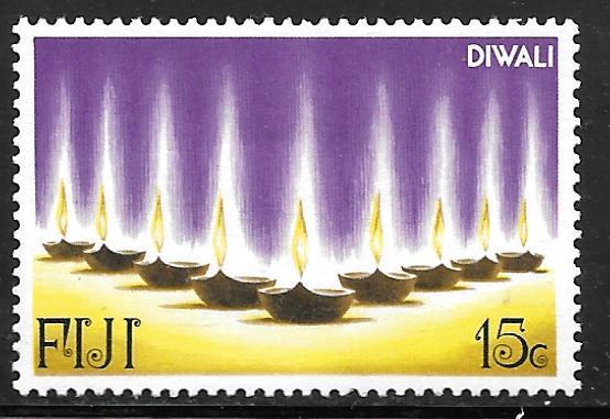 Fiji 394: 15c Diwali, MH, VF