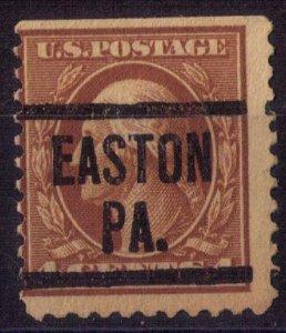 US Scott #503 Precancel EASTON PA. FINE