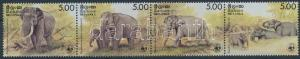 Sri Lanka stamp WWF Elephants set stripe of 4 MNH 1986 Mi 753-756 WS202741