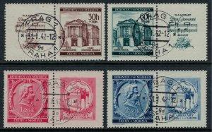 Czechoslovakia-Bohemia & Moravia #B5-8 with tabs.  Mozart