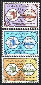 Libya. 1961. 109-11. Oil production, oil pipeline. MLH.