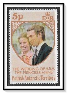 British Antarctic Territory #60 Princess Anne's Wedding MNH