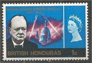 BRITISH HONDURAS, 1966, MH 1c, Churchill Memorial. Scott 191