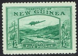 NEW GUINEA 1935 BULOLO AIRMAIL 5 POUNDS