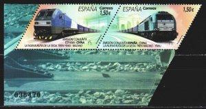 Spain. 2019. 5359-60. Trains, railway transport. MNH.