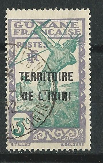 Inini # 3  Archer 3c  Overprinted  (1) Used VF