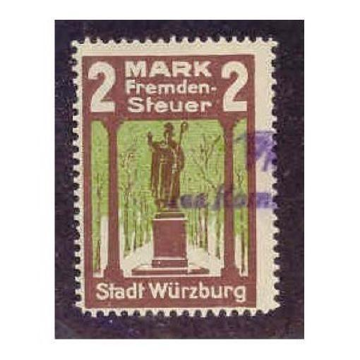 Germany - Wurzburg 2 M Municipal Revenue Stamp