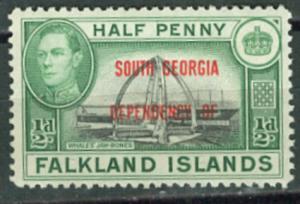 Falkland Dep  # 3L1 South Georgia   (1)  Mint NH