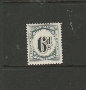 South West Africa 1931 Postage dues, 6d  MM SG D51