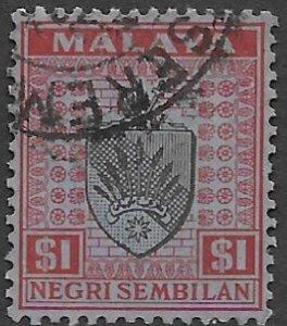 Malaysia- N. Sembilan  33   1931  $1.00  fine used