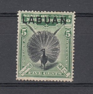 Labuan 1897 5c Black Green Perf 14.5 - 15 SG92a MH J6760