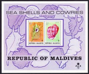 Maldives MH S/S 541 Sea Shells & Cowries