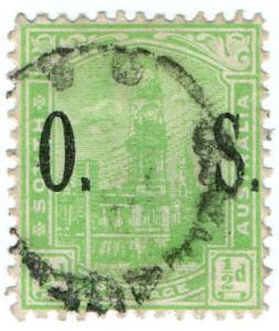 (I.B) Australia Postal : South Australia ½d (SG O80)