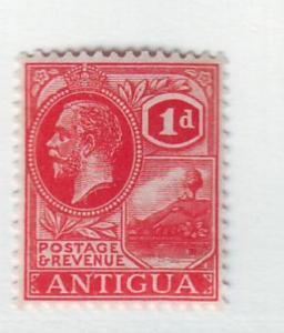 Antigua Sc43 1921 1 d rose rd G V St Johns Harbor stamp mint
