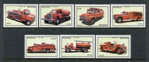 Nicaragua 1306-1312, MNH  1983 Fire Trucks. x29977