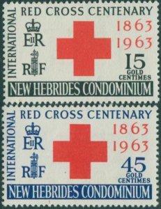New Hebrides 1963 SG96-97 Red Cross set MLH