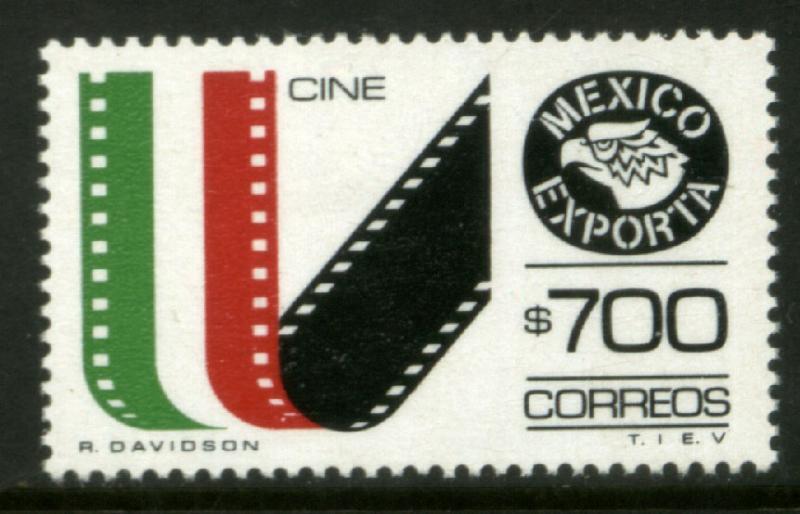 MEXICO Exporta 1498, $700P Movies Fluor Paper 13 MNH