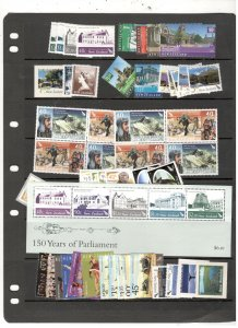 NEW ZEALAND COLLECTION ON STOCK SHEET, ALL MINT, MOSTLY MNH