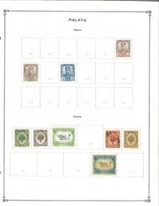 Malaya & States 1901-1937 M & U Hinged on Scott International Blank Pages