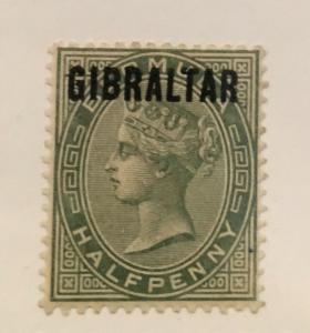 Scott 1 Gibraltar-Queen Victoria-Half Penny
