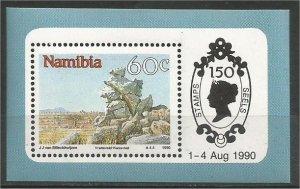 NAMIBIA, 1990, MNH 60c Mountains, Scott