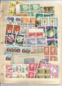PHILIPPINES COLLECTION ON STOCK SHEET, MINT/USED