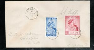 St Kitts & Nevis #93 - #94 Very Fine Used On First Day Cover