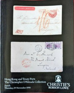 Auction Catalogue Christopher D'Almada HONG KONG and TREATY PORTS
