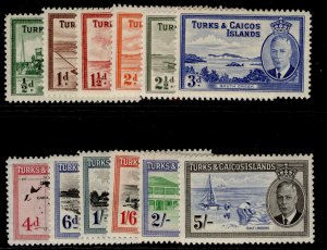 TURKS & CAICOS ISLANDS GVI SG221-232, short set, M MINT. Cat £65.