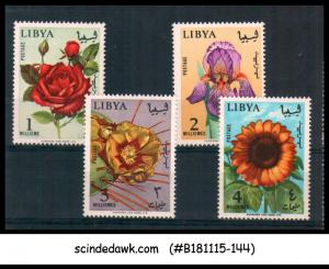 LIBYA - 1965 FLOWERS OF LIBYA - 4V - MNH