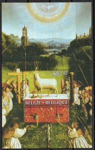 1986 Belgium B1051 Adoration of the Mystic Lamb, St. Bavon Cathedral MNH S/S