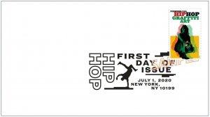 US 5482 Hip Hop Graffiti Art BWP FDC 2020 after 7/15