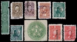 Mexico Revenue Stamps (1885-89) Used Hinged Good-Fine