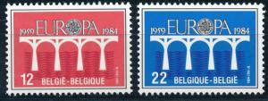 Europa CEPT - Belgium MNH Set Bridges (1984)