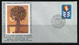 UN, 1980 WFUNA Cachet 35th Anniversary FDC