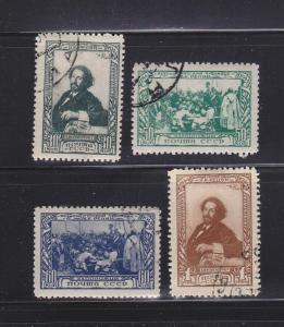 Russia 952-955 U LLya E repin, Painter