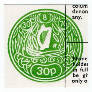 (I.B) Ireland Revenue : Impressed Duty 30p