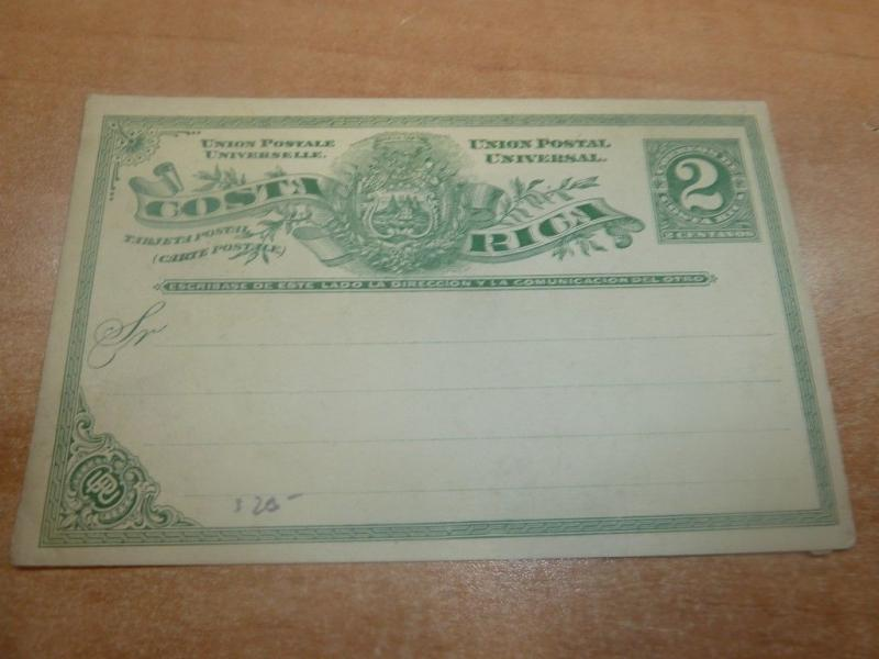 Costa Rica PSC 2c unused