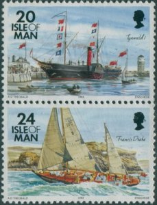 Isle Of Man 1993 SG543-547 Paddle Steamer and Ketch MNH