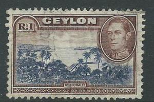 Ceylon George VI  SG 395  Used