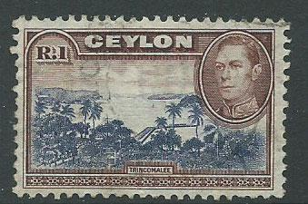 Ceylon George VI  SG 395  Used