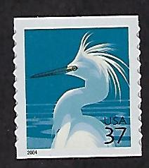 Catalog # 3829A Coil Single Stamps snowy Egret